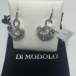 DI MODOLO Sterling Silver Blue Topaz Drop Earrings